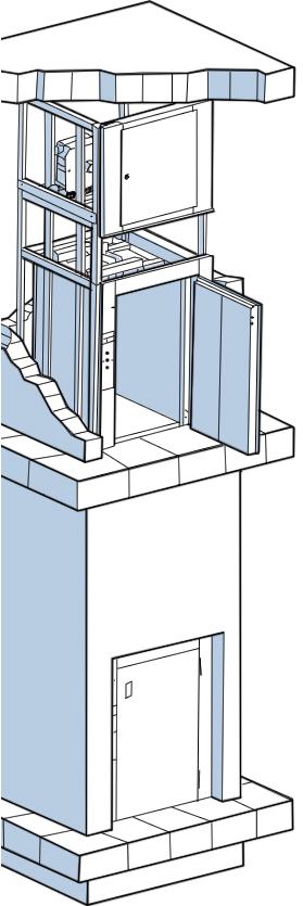 Малые грузовые лифты - схема