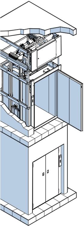 Грузовые лифты - схема